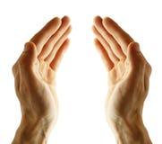 το κενό χέρι απομόνωσε το λ στοκ φωτογραφία