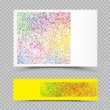 Το κενό holi χρωματίζει το καθορισμένο πρότυπο εγγράφου Στοκ Εικόνα