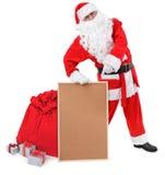 το κενό santa Claus δελτίων χαρτον&iot Στοκ εικόνα με δικαίωμα ελεύθερης χρήσης