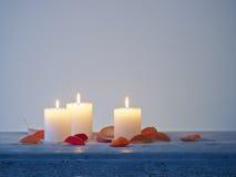 Το κερί άναψε τα φύλλα Στοκ εικόνες με δικαίωμα ελεύθερης χρήσης