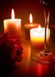 το κερί ελαφρύ αυξήθηκε Στοκ Φωτογραφίες