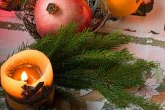 το κερί και ο κλάδος Στοκ φωτογραφία με δικαίωμα ελεύθερης χρήσης