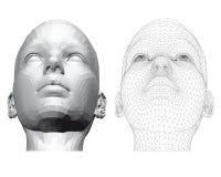 Το κεφάλι ενός κοριτσιού Στοκ φωτογραφία με δικαίωμα ελεύθερης χρήσης
