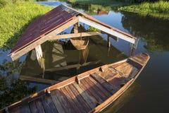 Το κεφάλι της ξύλινης βάρκας Στοκ εικόνα με δικαίωμα ελεύθερης χρήσης