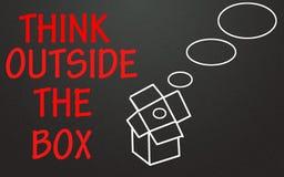 το κιβώτιο έξω από το σύμβολο σκέφτεται Στοκ φωτογραφίες με δικαίωμα ελεύθερης χρήσης