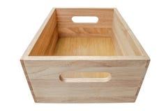 το κιβώτιο απομόνωσε ξύλι&n Στοκ Φωτογραφίες
