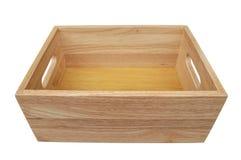 το κιβώτιο απομόνωσε ξύλι&n Στοκ Εικόνες