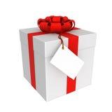 Το κιβώτιο δώρων που απομονώνεται στο λευκό Στοκ Εικόνα