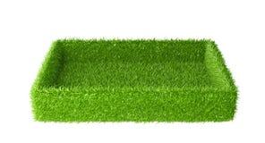 Το κιβώτιο κάλυψε μια πράσινη χλόη ελεύθερη απεικόνιση δικαιώματος
