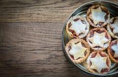 Το κιβώτιο με κομματιάζει τις πίτες: τοπ άποψη Στοκ εικόνες με δικαίωμα ελεύθερης χρήσης