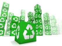 το κιβώτιο πράσινο πολλ&omicron Στοκ Εικόνες