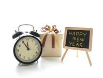Το κιβώτιο δώρων για γιορτάζει τα νέα έτη Στοκ Εικόνες