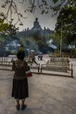 Το κινέζικο είδωλο κολλά την προσευχή Στοκ φωτογραφίες με δικαίωμα ελεύθερης χρήσης