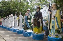 Το κινεζικό άγαλμα Θεών και αγγέλου για τους ανθρώπους και την επίσκεψη και προσεύχεται σε Wa Στοκ φωτογραφία με δικαίωμα ελεύθερης χρήσης