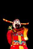 Το κινεζικό φανάρι Θεών στο μαύρο υπόβαθρο Στοκ φωτογραφίες με δικαίωμα ελεύθερης χρήσης