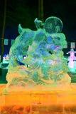 Το κινεζικό όνειρο των λαμπτήρων πάγου στο πάρκο nightscape Στοκ Εικόνα