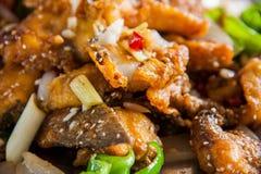 Το κινεζικό όνομα προσπαθεί να στείλει Yu - ψάρια τηγανίσματος Στοκ φωτογραφίες με δικαίωμα ελεύθερης χρήσης