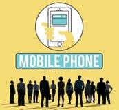 Το κινητό τηλεφωνικό κινητό τηλέφωνο κυψελοειδές επικοινωνεί την έννοια Στοκ εικόνες με δικαίωμα ελεύθερης χρήσης