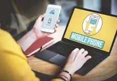 Το κινητό τηλεφωνικό κινητό τηλέφωνο κυψελοειδές επικοινωνεί την έννοια Στοκ φωτογραφία με δικαίωμα ελεύθερης χρήσης