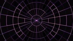 Το κινούμενο πλέγμα κύκλων νέου εμποδίζει υποβάθρου δυναμικό ζωντανεψοντα τεχνολογικό ζωηρόχρωμο ποιοτικών καθολικό κινήσεων ζωτι ελεύθερη απεικόνιση δικαιώματος