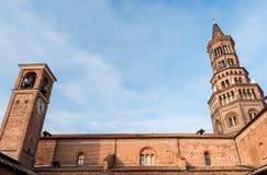 Το κιστερκιανό αβαείο Chiaravalle στο Μιλάνο Στοκ φωτογραφίες με δικαίωμα ελεύθερης χρήσης
