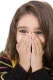 το κλείνοντας κορίτσι δί&nu στοκ εικόνα με δικαίωμα ελεύθερης χρήσης