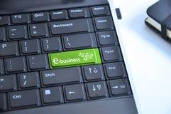 Το κλειδί πληκτρολογίων ηλεκτρονικού εμπορίου, στέλνει το ηλεκτρονικό ταχυδρομείο για να αυξηθεί τη σε απευθείας σύνδεση επιχείρη Στοκ Εικόνα
