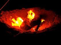 Το κοίλωμα πυρκαγιάς Στοκ εικόνα με δικαίωμα ελεύθερης χρήσης