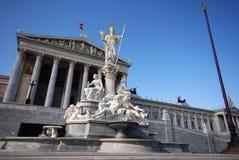 το Κοινοβούλιο Βιέννη τη&s Στοκ εικόνες με δικαίωμα ελεύθερης χρήσης