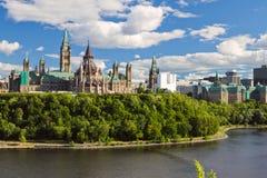 το Κοινοβούλιο της Οττάβας λόφων του Καναδά Στοκ εικόνες με δικαίωμα ελεύθερης χρήσης