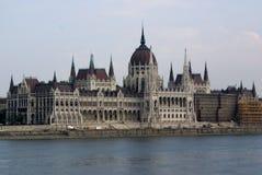 το Κοινοβούλιο της Ουγγαρίας κτηρίων της Βουδαπέστης Στοκ Εικόνες