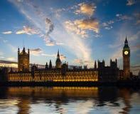 το Κοινοβούλιο του Λονδίνου σπιτιών Στοκ Εικόνες