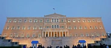 Το Κοινοβούλιο Αθήνα της Ελλάδας Στοκ Εικόνες