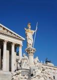 Το Κοινοβούλιο Αθηνάς αγαλμάτων στη Βιέννη, Αυστρία Στοκ Φωτογραφίες