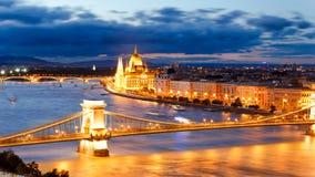 Το Κοινοβούλιο, Βουδαπέστη Στοκ Φωτογραφία
