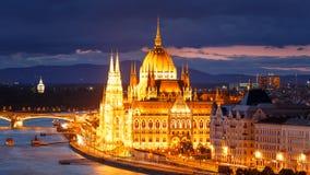 Το Κοινοβούλιο, Βουδαπέστη Στοκ Εικόνα