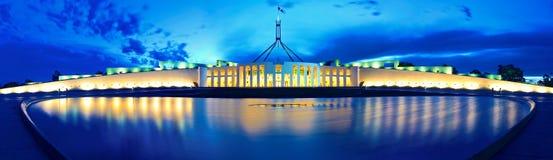 Το Κοινοβούλιο & πανόραμα στοκ φωτογραφίες