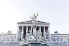 Το Κοινοβούλιο της Βιέννης Στοκ Φωτογραφία