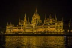 Το Κοινοβούλιο της Ουγγαρίας τη νύχτα Στοκ Εικόνες