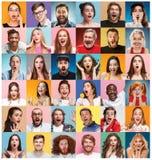 Το κολάζ των έκπληκτων ανθρώπων στοκ εικόνα με δικαίωμα ελεύθερης χρήσης