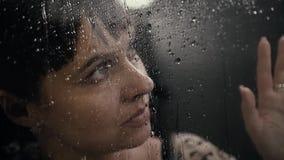 Ασθένεια αθεράπευτος Θλίψη Βροχή απόθεμα βίντεο
