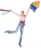 το κορίτσι αγοράζει τις &nu Στοκ εικόνες με δικαίωμα ελεύθερης χρήσης
