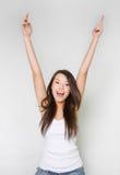 το κορίτσι δίνει ευτυχής στοκ φωτογραφία με δικαίωμα ελεύθερης χρήσης