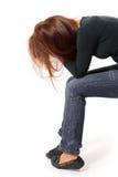 Το κορίτσι εφήβων κατάθλιψης φώναξε μόνο Στοκ Εικόνες