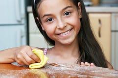 Το κορίτσι η σκόνη Στοκ εικόνες με δικαίωμα ελεύθερης χρήσης