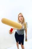 το κορίτσι κάνει την επισ&kapp Στοκ Εικόνα