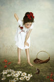 Το κορίτσι και το ποντίκι Στοκ φωτογραφίες με δικαίωμα ελεύθερης χρήσης