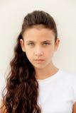 0 το κορίτσι με τα μπλε μάτια Στοκ εικόνες με δικαίωμα ελεύθερης χρήσης