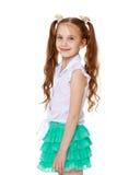 Το κορίτσι με τις μακριές πλεξούδες Στοκ εικόνα με δικαίωμα ελεύθερης χρήσης