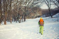 Το κορίτσι με το σακίδιο πλάτης Στοκ εικόνα με δικαίωμα ελεύθερης χρήσης